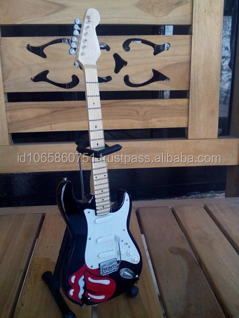 مصغرة الغيتار مخصص رولينج ستونز rf07 جودة الصادرات مع حامل