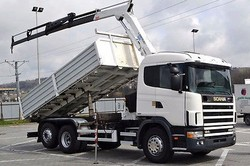 Used Scania 124 6X2 Tipper With Crane - Left Hand Drive - Stock no: 13007