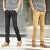 Chino pant:drop crotch pant:Cheap Skinny Lightweight Military 100% Cotton Chino Casual Pant for Men:khaki men's public - OEM me