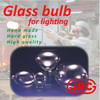 Handmade glass bulb for hid lighting for industrial use , Original design available