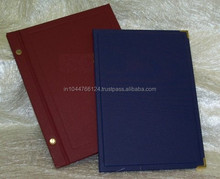 A4 High Quality Leather Drink Menu Cover / Customized Leather Menu Holder Book / Leather Menu Book