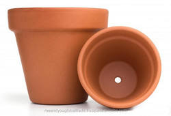 Mini And Large Size Indian Craving Flower Pot New Simple And Art Design Terracotta Red Clay Different Color Wholesale pots