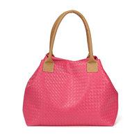 New 2015 Handbag Lady Candy Color Vintage Handbag Messenger Shopping Tote Bag Solid Versatile Multifunction Weave Summer Bags