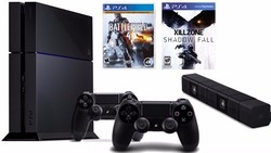 2015 Top Selling New arrival Video Game Console 500GB PS4 console + 10 Free Games & 2 Wireless controller