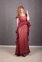 Laced, short sleeve evening dresses 3 size (38/40/42)