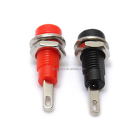 Lowest price 2mm Banana Socket Binding Post Panel For Speaker Amplifier Test Probes Black+Red