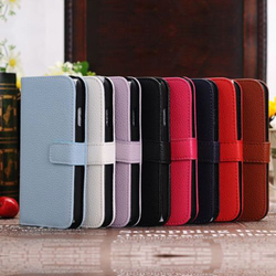 Luxury Leather Stand Case for Samsung Galaxy S4 with credit card holder with screen protector