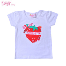 Branded Quality Casual Short Sleeve Sweet Girls Strawberry Baby T-Shirt