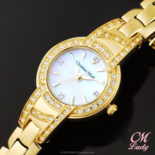 Luxury Ladies Jewelry Bracelet Watch for Women Gold Color Water Resistance Swiss Movement Brass Case Band CM Lady Made in Korea