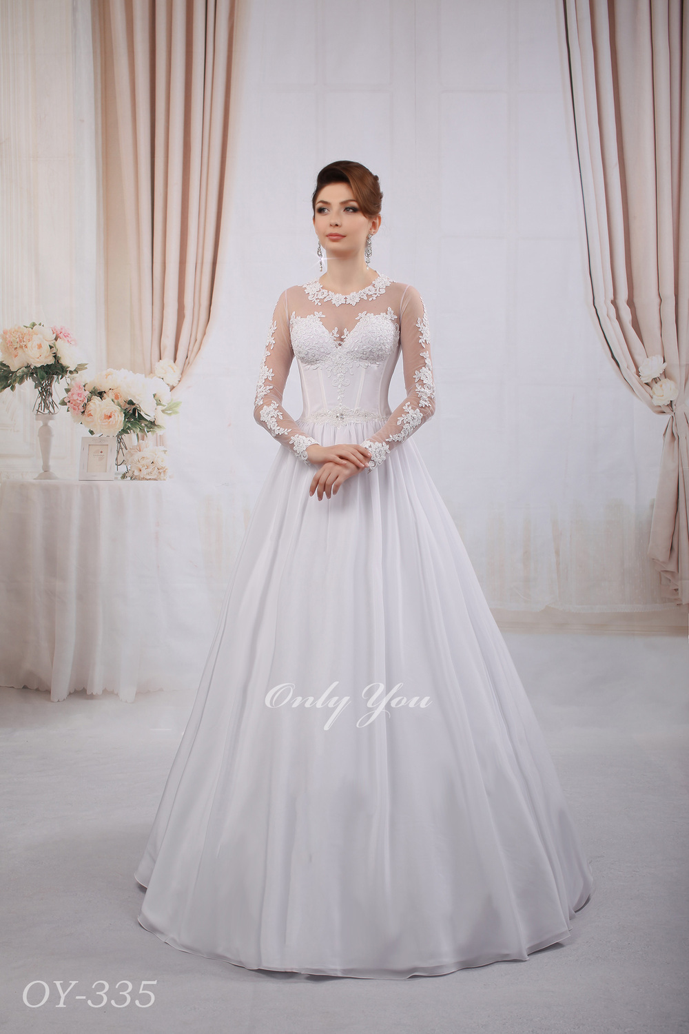 Perfect Wedding Dress Silk Ball Gown Skirt Beaded Lace Closed Back ...
