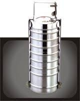 Stainless Steel Tiffin Carrier 800/1100ML/1300ML,plastic handle,double layer,shiny polish,for family