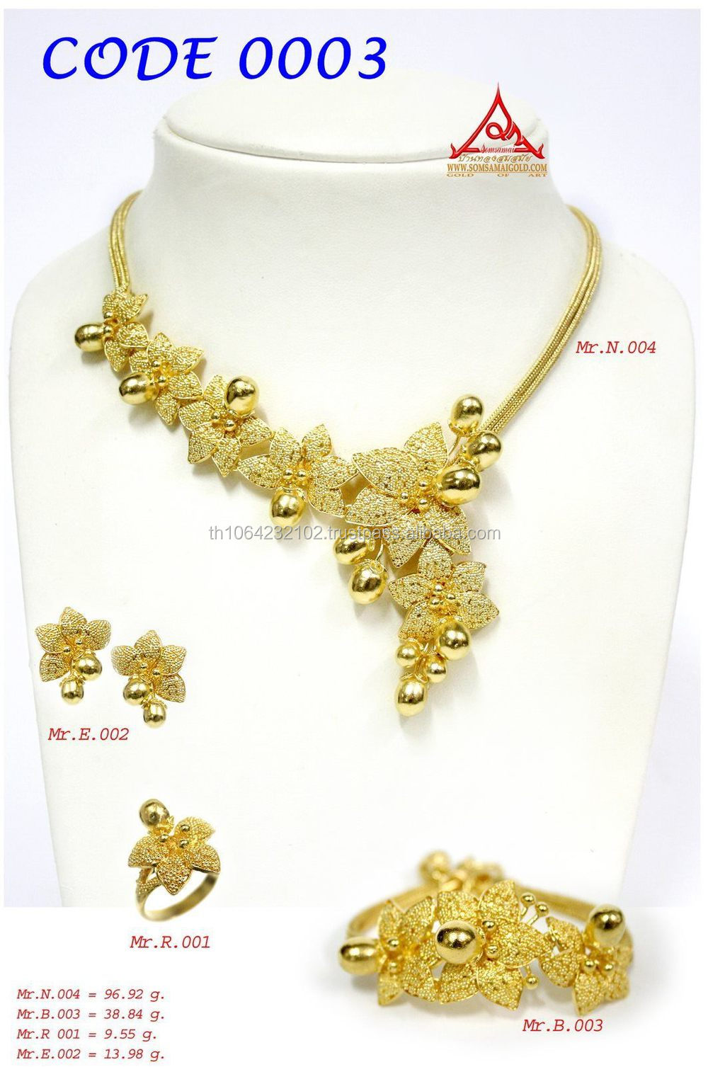 24k (99.99%) Gold Necklace special crafts, Sukhothai Gold of the ...
