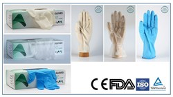 BEST PRICE Medical Examination Latex Gloves, powdered or powder free Made by MY MEDICAL quality
