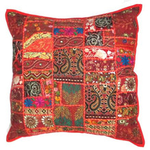CUSHION PILLOW COVERS indian Thread Work Ethnic Vintage Decor Art