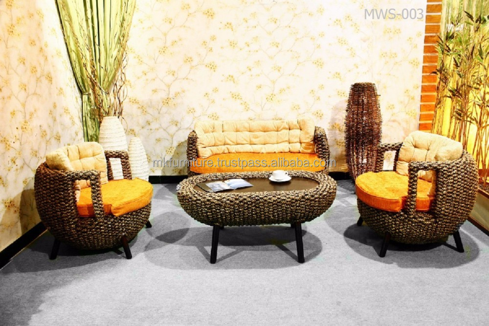 wicker and rattan living room furniture trend home