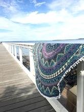 "Indian Roundie Tapestry Wall Hanging Yoga Mat Wholesale Elephant Mandala Round Beach Throw Blanket Picnic Sheet 72"" Supplier"