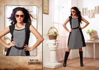 beautiful long kurti designs of georgette kurtis/cotton kurti neck designs