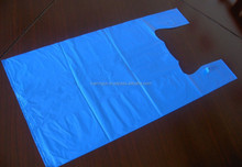 blue and mutilcolor Plastic shopping thank you bag/ HDPE T-shirt thank you bag with cheap price (skype: salestnp01)
