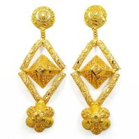Traditional Chandelier Earring Set Jewellery 18K Gold Plated South Indian Jewellery Gift For Her -BSE3445
