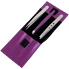 Tweezers Sparkles Set of Three with Super Cute Purple Case / For Ingrown Hair and Eyebrow Shaping