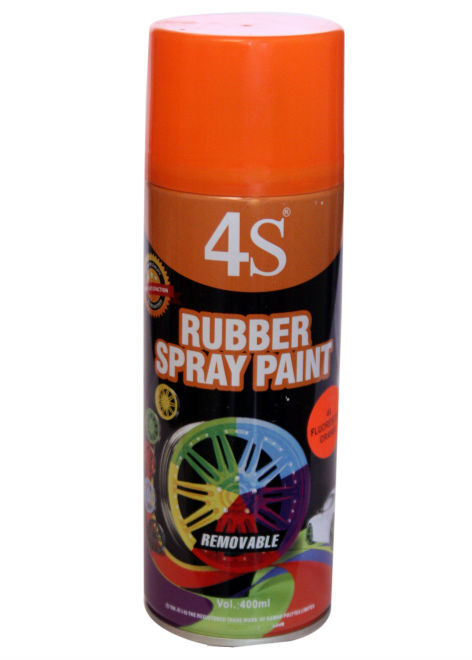 Peelable Rubber Spray Paint Flourocent Orange Buy Rubber Spray Paint Aerosol Rubber Spray