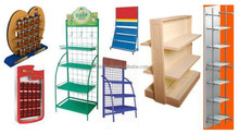 Display Stand, Cardboard Supermaket Rack, Metal Store Shelf