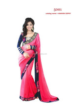 SURAT SARRE Georgette Saree Georgette Designer wedding saree Bollywood Designer Saree Ethnic Beautiful Georgette