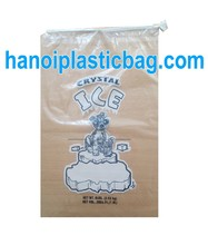 LLDPE Icebag Drawstring print 2 color 2 side at competitive price
