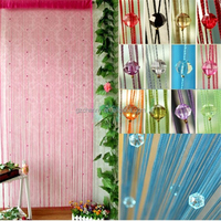 New Drop Beaded String Door Window Fringe Wall Panel Room Divider Imitated Crystals Beads String Curtain