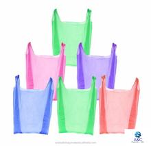 A&C's main product Competitive price plain multi color resistant thin T shirt Plastic bag