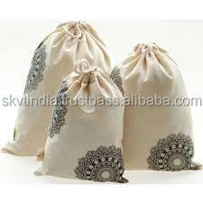 wholesale supplier organic cotton drawstring bags