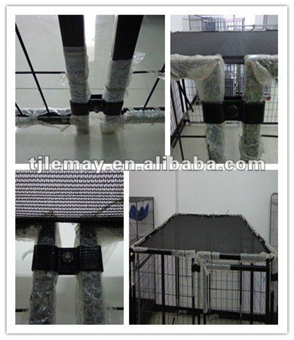 Heavy duty black outdoor 5ft dog kennel cage