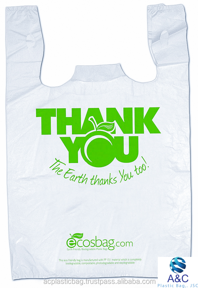 Hot sale shopping promotion t shirt plastic bag thank you for Personalized t shirt bags
