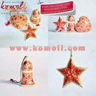 Handpainted natal- natal decorações de árvores- estrelas, sinos& corações- papel mache