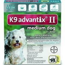 Bayer K9 Advantix II Flea & Tick Treatment for Small Dogs
