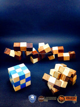 Sale!! Woodden puzzle snake magic cube puzzle