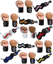 Elastic Wrist Wraps / Power Lifting Wrist Wraps / Cross Fit Wrist Wraps