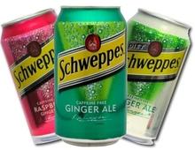 Schweppes Tonic / Biter Lemon / Ginger Ale / Soda water 24x33cl cans
