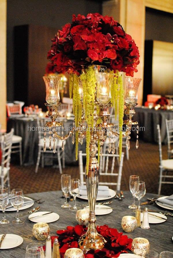 Table decorations centerpieces wedding crystal tall