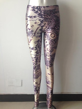 galaxy leggings spandex knitted punk rock yoga pants milk silk sport solid printing leggings version of the world map sexy mid