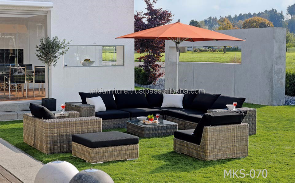 modern patio rattan outdoor garden sofa set furniture. Black Bedroom Furniture Sets. Home Design Ideas