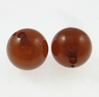 8mm brown Round Clearance Acrylic Beads