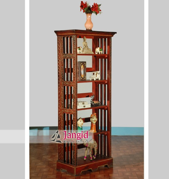Wooden Painted Folding Bookcases For Living Room Furniture