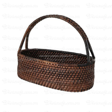 Hot sale woven wicker bread basket used for gift/food holding, made in Vietnam with 100% natural material