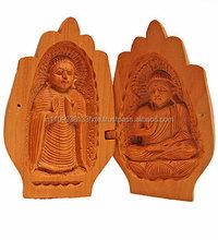 2015 High Quality Customized Wooden Buddha Statue/Antique Painted Wooden Lord Buddha Statue/Wooden god statue/Wooden Handicraft