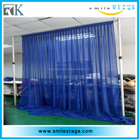 Wholesale cheap tiffany blue fabric backdrop for decoration