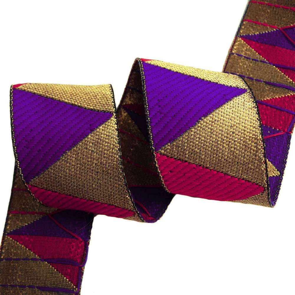 Jacquard trim craft supply metallic gold 5 3 cm wide for Craft ribbons and trims