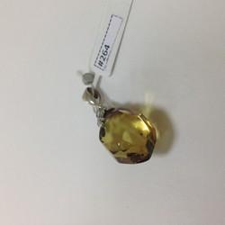 Amber (Silver 925) Caribbean Green Pendant 4,5gr #264