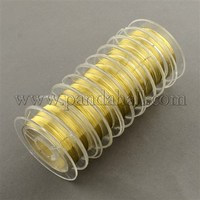 Brass Wire, Golden, 0.3mm, about 10m/roll, 10rolls/group