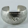 Om!! Oxidado 925 brazalete de plata esterlina, hecho a mano de plata joyería, en línea de joyas de plata
